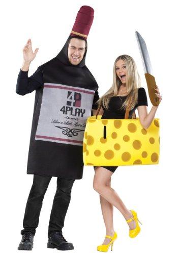 Fun World Kostüm für Paare mit Wein und Käse
