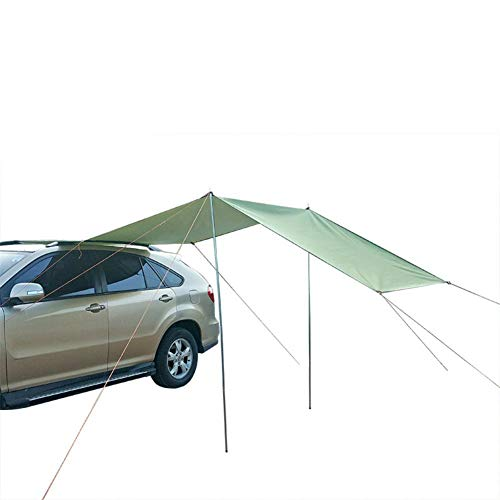 Toldo Plegable de Coche a Prueba de Agua Portátil Portátil Coche Sujetador-UV Pesca Pesca Camping Tienda Automóvil Trumol Canopy Sun Shelter (Color : 300x150cm)