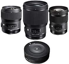 Sigma 3 Lens Bundle for Nikon AF Cameras - Includes 35 f/1.4 DG HSM Art, 50mm f/1.4 DG HSM Art Lens, 85mm f/1.4 DG HSM Art Lens USB Dock for Nikon Lenses