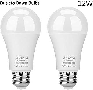 Aukora Dusk to Dawn Light Bulb, 12W (100-Watt Equivalent) Smart Sensor Light Bulbs Super..