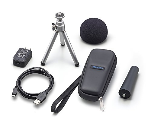 Zoom APH-1N Accessory Pack for H1n Portable Recorder, Includes Foam Windscreen, USB AC Adapter, Micro USB Cable, Adjustable Tripod Stand, Padded-Shell Case, Mic Clip Adapter