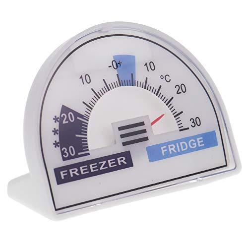 Thermomètre de réfrigérateur ou congélateur avec cadran et zones de température recommandées