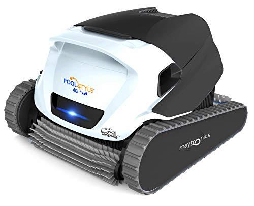 Maytronics Dolphin Poolstyle 40i IOT Wi Fi Bluetooth MyDolphin Plus App Full Timer Digital - Robot Elettrico Pulitore per Piscina Fino a 12 Mt - Fondo + PARETI + Linea - 3 Anni Garanzia - MY2021