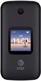 Alcatel SMARTFLIP 4052R | 4G LTE | 4GB Flip-Phone | Bluetooth, WiFi, Big Buttons | (GSM Unlocked) - Volcano Black