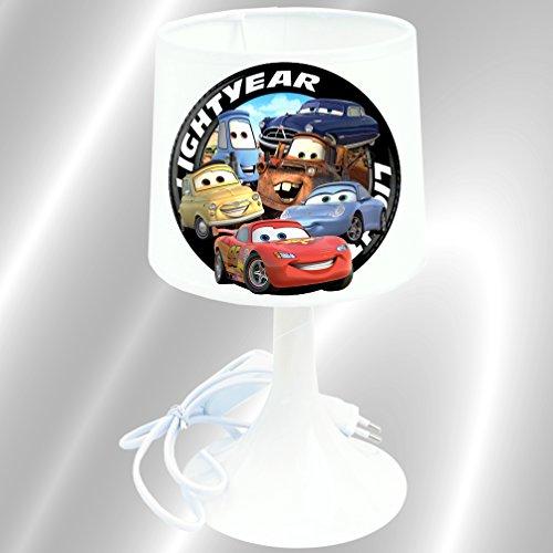 Lampe de chevet de création - Lampe à poser enfant - Disney Cars & Co