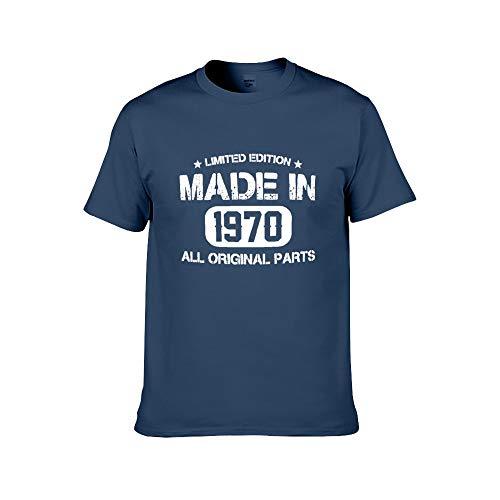 Männer Mode gedruckt - 50. Geburtstagsgeschenk T-Shirt gemacht rotes T Vintage 1970 T-Shirt XL