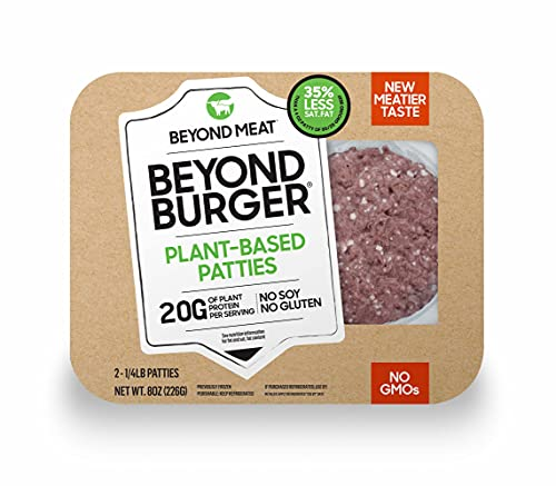 Beyond Meat Burger from PlantBased Frozen 2-4oz. Patties per Package Total , 8 Ounce