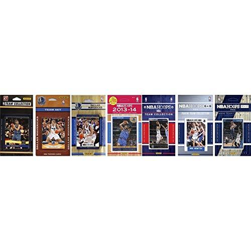 NBA Dallas Mavericks Herren 7 Verschiedene lizenzierte Sammelkarten-Team-Sets, weiß