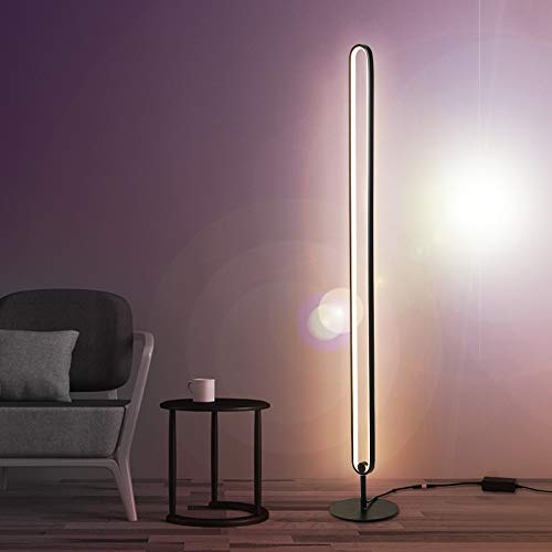 Ydshyth Led Stehlampe 20w Dimmbar Stehleuchte Mit Fernbedienung, Modern Farbwechsel Eckleuchte Standlampe Für Wohnzimmer Schlafzimmer