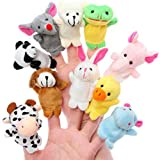 Marionetas de Dedo con Animales De Juguete Pequeños para Niños | Juego de Marionetas De Dedo 10 Piezas para Niños-Bebés | Interesante Juguete De Dedos para Regalo de Cumpleaños