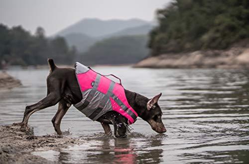 Chaleco salvavidas para perros chaleco salvavidas para mascotas chaleco salvavidas para mascotas tamaño ajustable salvavidas para perros reflectante de seguridad chaleco salvavidas con mango
