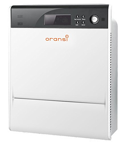 "Oransi Max HEPA Large Room Air Purifier for Asthma Mold, Dust and Allergies, 17""x22""x8"", White"