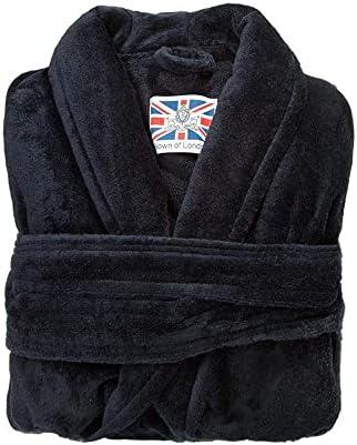 Bown of London British Men's Designer Robe - Baron Navy