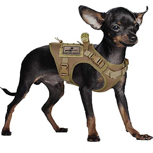 SALFSE Taktisches Hunde-Trainingsgeschirr Outdoor Arbeitsweste Verstellbare Militärweste MOLLE Hundeweste Geschirr mit Gummigriff