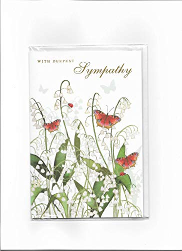 Tarjeta de condolencias – Mariposas y lirio del valle