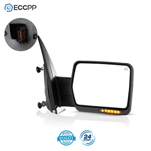 ECCPP Power Heated Turn Signal Puddle Lamps Passenger Side Mirror Replacement fit for 2007 08 09 10 11 12 13 14 for Ford F-150 Pickup