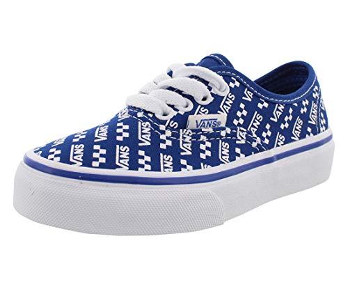 Vans Authentic Boys Shoes Size 1, Color: Logo Repeat/True Blue/True White