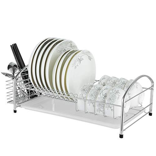 Home storage Dish rack Drain rack 304 stainless steel Kitchen shelf Drawer drain plate Monolayer Place dishes cupboard Kitchenware
