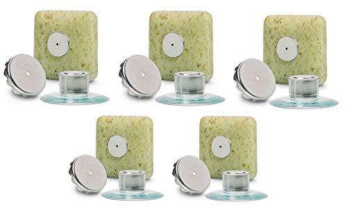 5 x Seifenhalter mit Magnet by SudoreWell® / Savont - neu, innovativ, sauber und umweltfreundlich