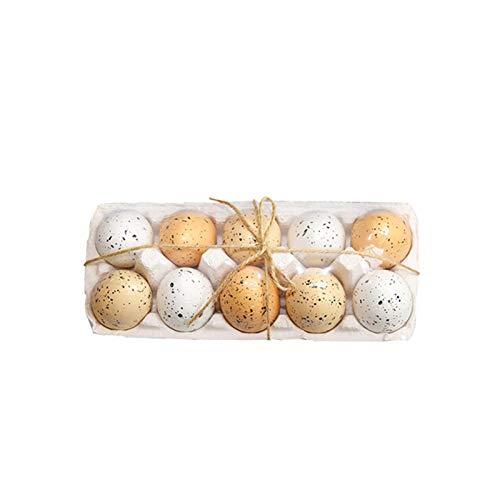 10 huevos de Pascua decorativos, regalos de cumpleaños que se pueden dar a los amigos con patrón de motos, simulación de dibujos animados, decoración de eventos, suministros de fiesta