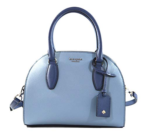"""Made of Saffiano leather with suede on both sides Removable and adjustable crossbody strap, wear three ways, crossbody, over the shoulder or carry by hand Top zip closure Inside 1 slip pocket, outside 1 full length slip pocket with snap closure 9.25""""..."""
