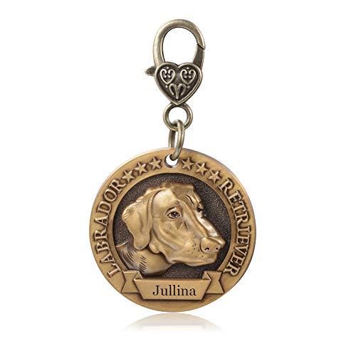 Brand New DaMei Collar Perro Chapa Identificativa Perro de Mascotas de Acero Inoxidable Etiquetas de Perro Personalizadas Grabado para Gato y Perro 40mm Chapa Medalla (#19)