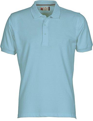 Venice Polo à manches courtes en coton pour homme 3 boutons Taille S à 5XL - Bleu - Large