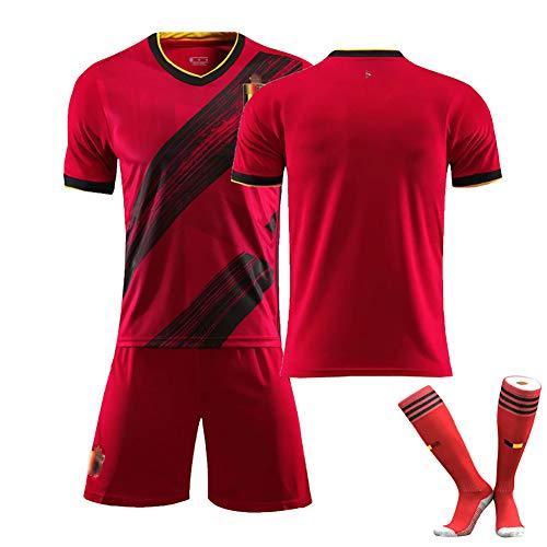 CWWAP Belgien Trikot E. Hazard De Bruyne Trikots Für Europapokal Fußballfans Trikot, Fußballuniform Benutzerdefiniert eine beliebige Nummer und einen beliebigen Namen-blank-26