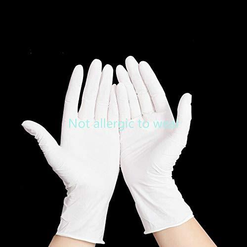N/A Medizinische Handschuhe 9 Zoll Finger blau weiß Ding klar schützenden Butylgummi Anti-Rutsch-Handschuhe 100 installiert L-Code