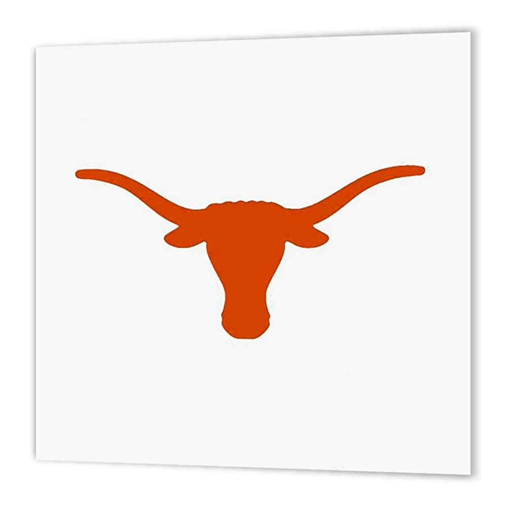 3dRose ht_5721_3 Longhorns-Iron on Heat Transfer Paper for White Material, 10 by 10-Inch