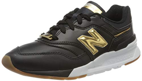 New Balance Damen 997h d Sneaker, Schwarz (Black/Yellow Hai), 39 EU
