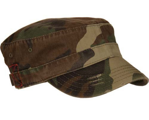 MG Distressed Washed Cotton Cadet Army Cap (Camo)…