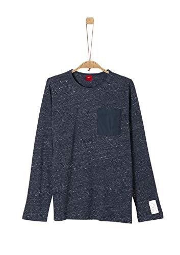 s.Oliver Jungen 61.909.31.8967 T-Shirt, Blau (Dark Blue Melange 59w4), 176 (Herstellergröße: XL/REG)