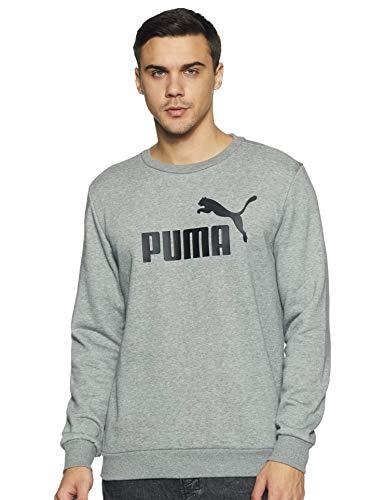 PUMA ESS Logo Crew - Sudadera para Hombre, Hombre, 851747, Gris (Medium Gray Heather), XXL