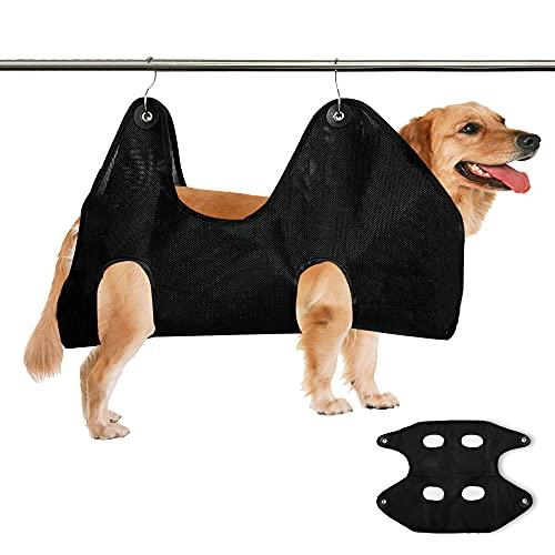 LELE LIFE Hamaca para perro súper resistente para recortar uñas, hamaca de aseo de perros, arnés de aseo de perros, cabestrillo para perros, bolsa de baño para gatos (XL)