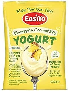 Easiyo ビットプレミアムヨーグルトミックス230グラムとパイナップル&ココナッツ - Easiyo Pineapple & Coconut with Bits Premium Yoghurt Mix 230g (PACK OF 2) [並行輸入品]