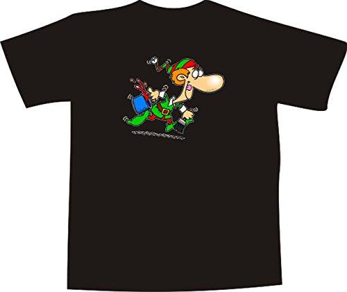 Black Dragon - T-Shirt E1278 - weiß - Größe XXL - Logo/Grafik/Design - verrückter Maler Zwerg mit Pinsel und Farbeimer - Funshirt Mann Frau Party Fasching Geschenk Arbeit - Bedruckt