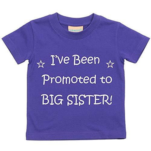 60 Second Makeover Limited I've été PROMU pour Big Sister Violet T-Shirt Bébé Tout-Petit Enfants Disponible en Tailles 0-6 Mois pour 14-15 Ans Nouveau bébé Cousin Cadeau - Violet, 5-6 Ans