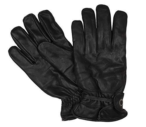 Bugatti Herrenhandschuhe Handschuhe Ziegennappaleder Schwarz 8620, Farbe:Schwarz, Größe:L