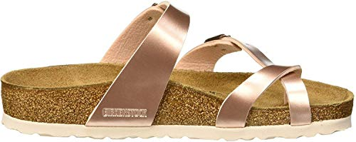 BIRKENSTOCK Damen Mayari Birko-Flor Zehentrenner, Braun (Electric Metallic Copper Electric Metallic Copper), 39 EU