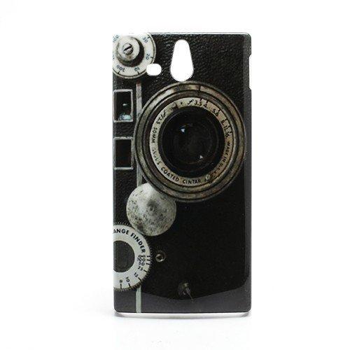 Unbekannt Hard Case/Cover caméra Sony Xperia U / ST25i avec l'objectif Range Finder étui de Protection Couverture arrière de Shell Vintage