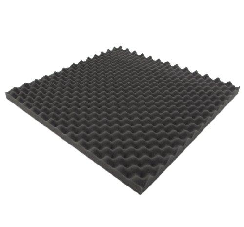 Noppenschaumstoff - Akustik Schaumstoff (ca. 49 x 49 x 3 cm) Akustikschaumstoff Dämmung