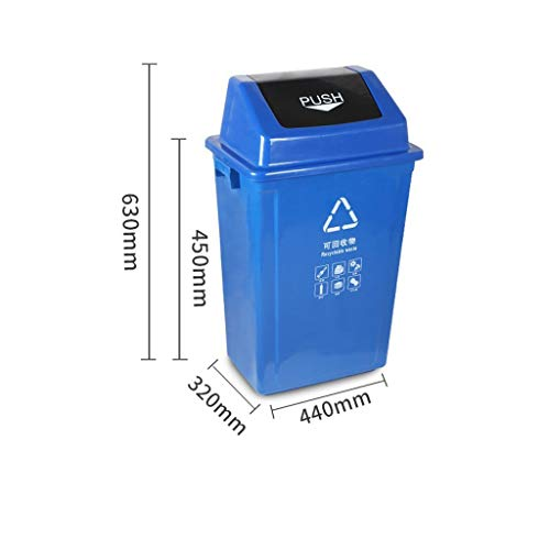 Cheap LXF Outdoor Waste Bins Trash can, Shuffle Cover, Trash can, Sanitation Plastic Bucket Black Wh...