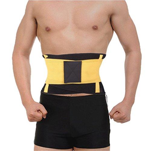 DODOING Fitnessgürtel Bauchgürtel zur Fettverbrennung - Taillentrimmer für Männer und Frauen - Schwitzgürtel zum abnehmen