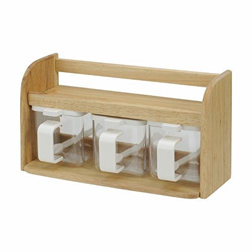 レック DELI 木製 クッキングボックス (3) 調味料入れ K-957