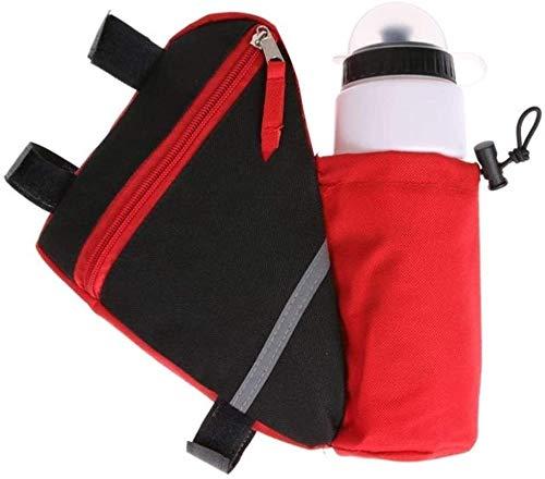 Cuadro de la bicicleta bolso de la bicicleta del bolso del triángulo con la botella de agua bolsa, bolsa de ciclo del estante Hombres Mujeres, MTB bici del camino del marco bolsas, accesorios de la bi