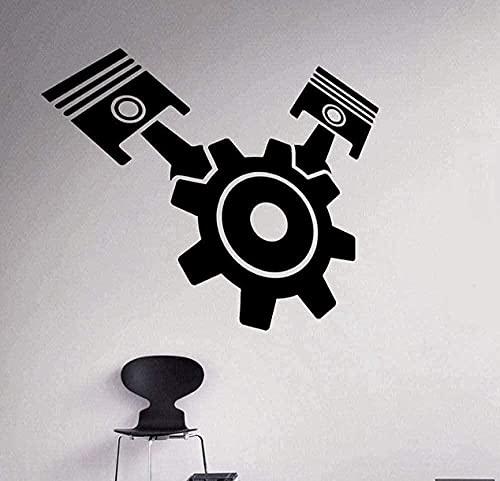 Pegatina de pared wwhhh, calcomanía de vinilo para motor y motor, decoración de garaje interior para el hogar, calcomanía decorativa extraíble para pared, 70X58Cm