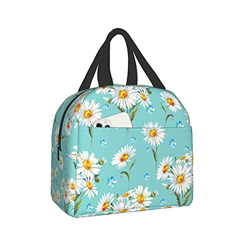 Daisy Portable Insulated Lunch Bag Totee Handbag,Shopping Office Picnic/Travel/Camping