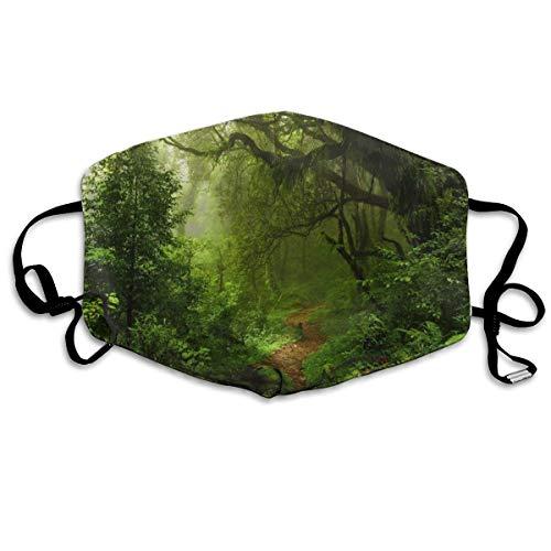 Jungle bomen bos mist mos pad planten varens regenwoud natuur unisex volledige dekking buis gezicht masker Bandanas UV bescherming nek Gaiter hoofdband