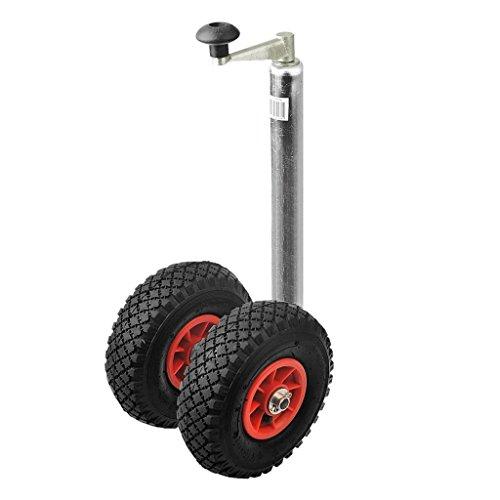 ProPlus Zwillingsrad Doppelstützrad Anhänger Bugrad Anhängerstützrad Deichsel Rad Reifen